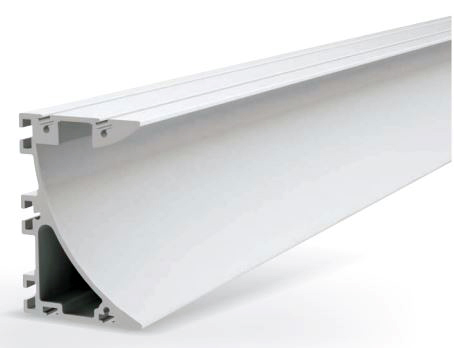 PROFIL LEDUX avec réflecteur laqué Blanc