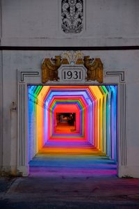 tunnel RGB LED Entrée
